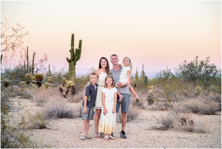 Cobbe Family Portraits at the White Tank Mountain National Park
