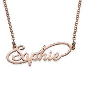 Infinity Style Name Necklace - Rose Gold Plated