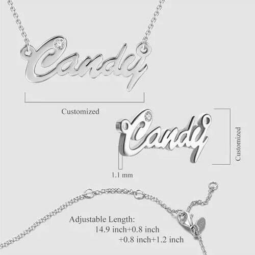 Personalized CZ Name Necklace