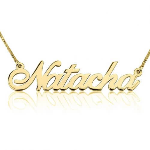 Gold Plated Classic Custom Name Necklace