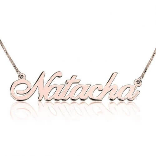 Rose Gold Plated Classic Custom Name Necklace