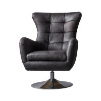 Bristol Swivel Chair - Antique Ebony - Alison at Home