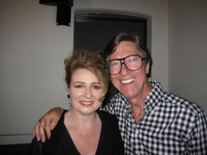 Alison Burns and Hank Marvin in Australia