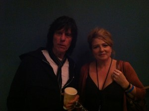 Jeff Beck and Alison Burns