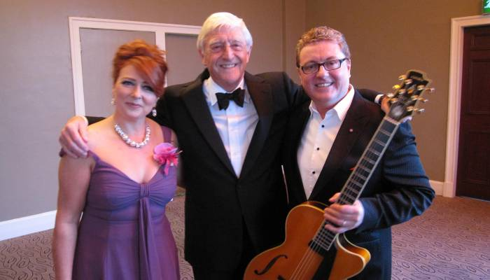 Alison Burns concert with Sir Michael Parkinson and Martin Taylor