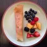 Breakfast Crepes With Berries And Cream