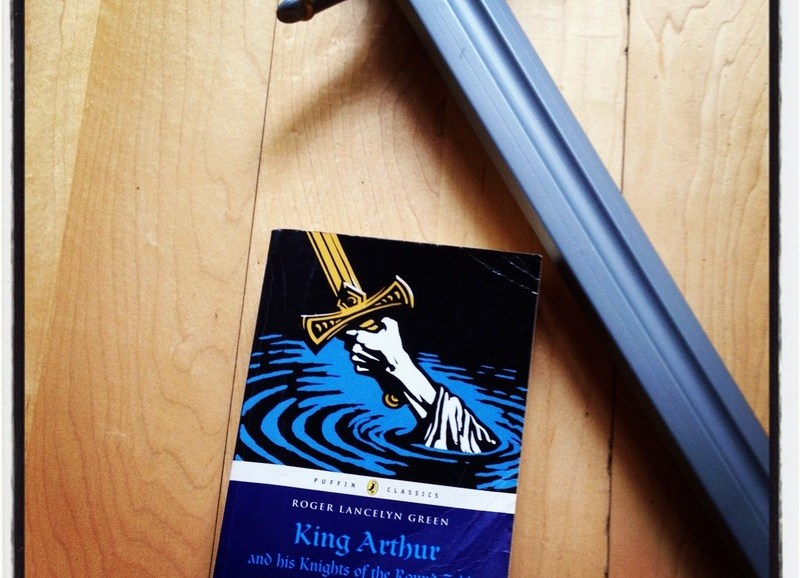 king arthur books, book and sword, adventure tales