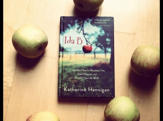 Ida B book image, apples and book