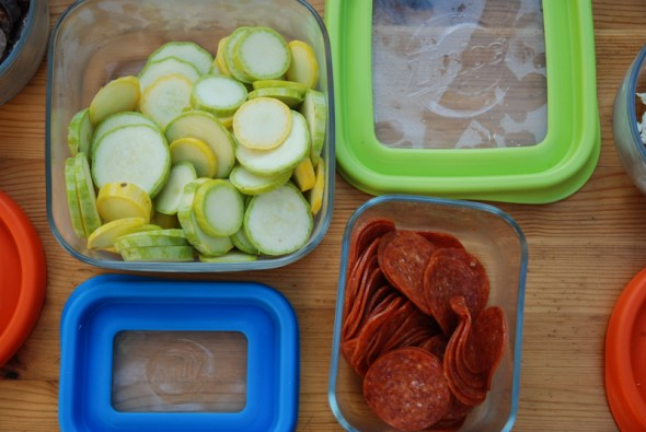 Pizza Night, pepperoni, sliced squash, Easy Dinners, What's For Dinner, Cooking with Kids
