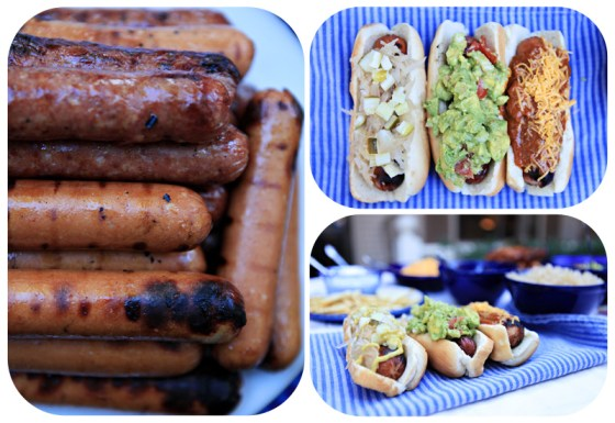 fancy hot dogs, creative dogs, fun with cookout food