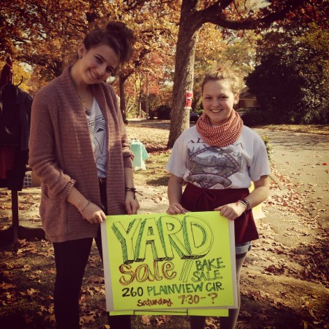 cutie yard sale signs, being grateful