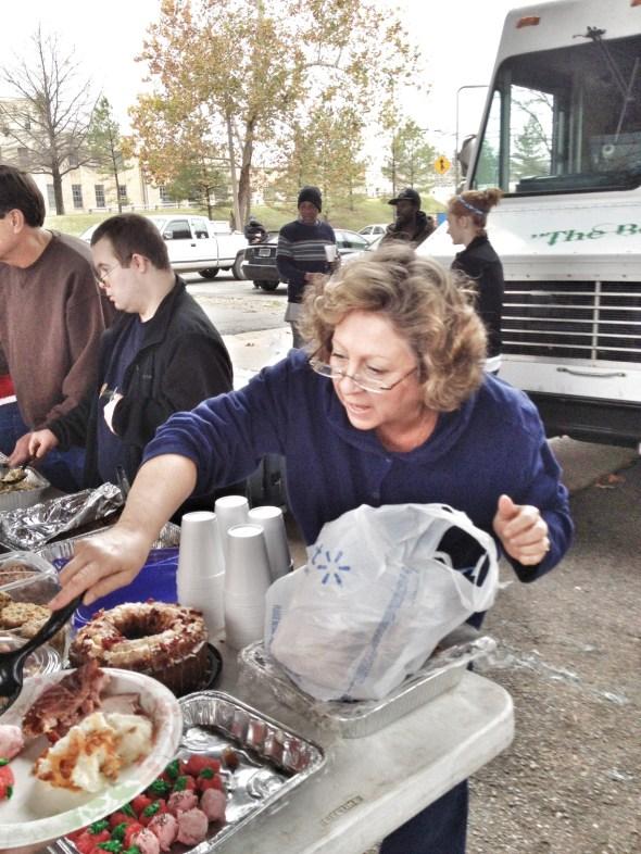feeding the homeless, helpers, under the bridge