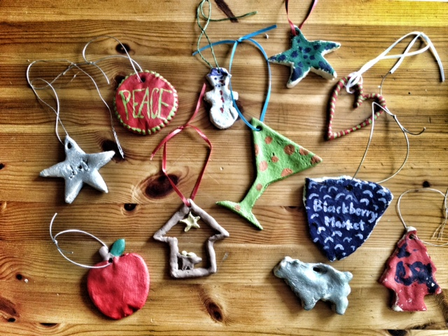 salt dough ornaments, christmas crafts, christamas with children, handmade christmas ornaments