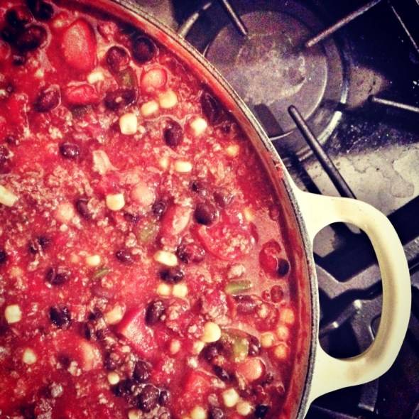 chili, chili recipe, chili with beans and corn