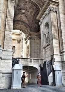Rome, travel, european travel, Swiss Guards at St Peters Basilica, Swiss Guards Vatican