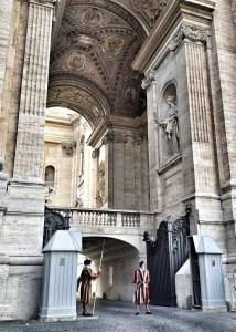 Rome, travel, european travel, Swiss Guards at St Peters Basilica, Swiss Guards Vatican