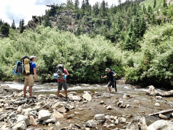 Aspen To Crested Butte, Backpacking, Hking With Kids, Colorado, River Crossing