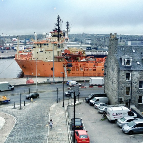 Harbor in Aberdeen, Scotland, Week 2