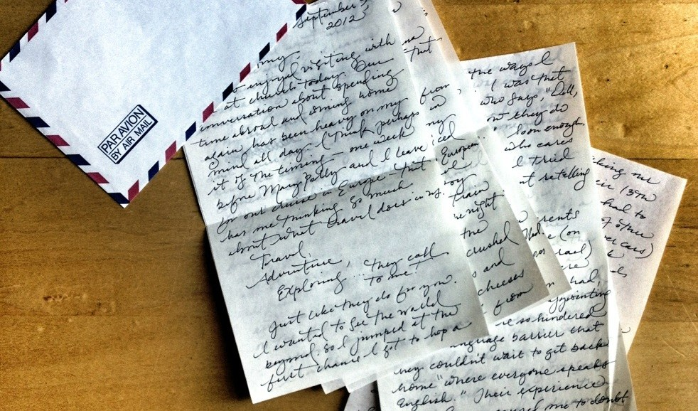 Travel Abroad Letter, Love Alison