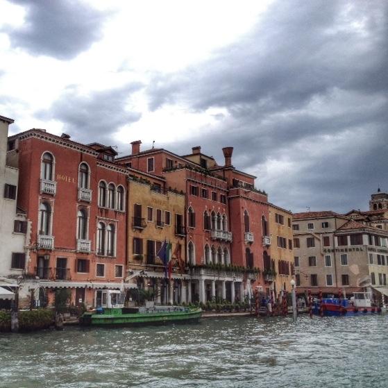 Venice, The Grand Canal, Vaporetto #1 in Venice Italy, Gondolas, Water Bus