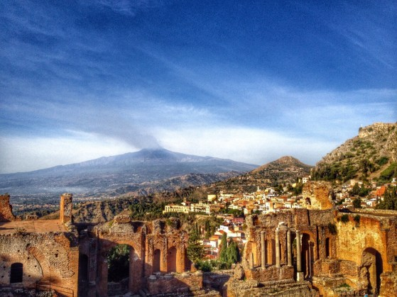 Taormina, Mt Etna, Greek Theater, Messina, Italy, Snapshots of Sicily