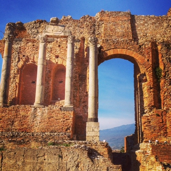 Greek Theater, Taormina, Snapshots of Sicily, Italy
