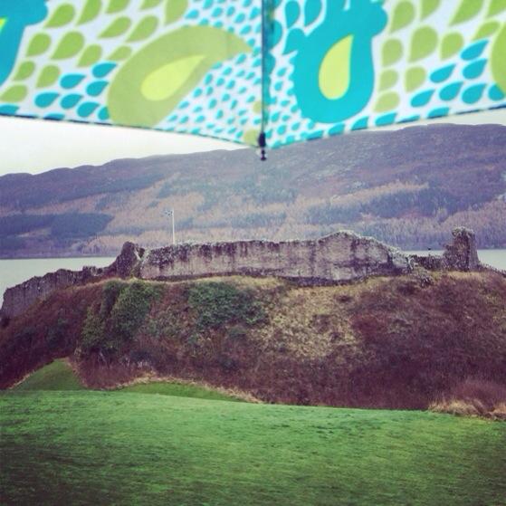 Urquhart Castle, Rainy Day in Scotland, Snapshots of Scotland