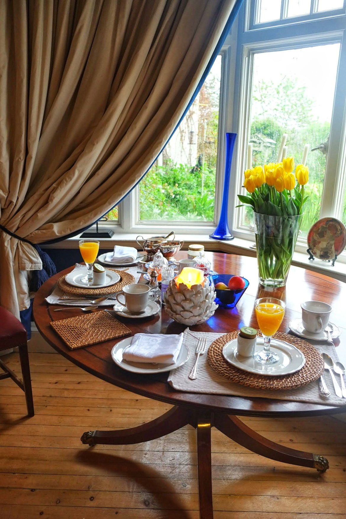 Breakfast at Fauhope house, st cuthberts way