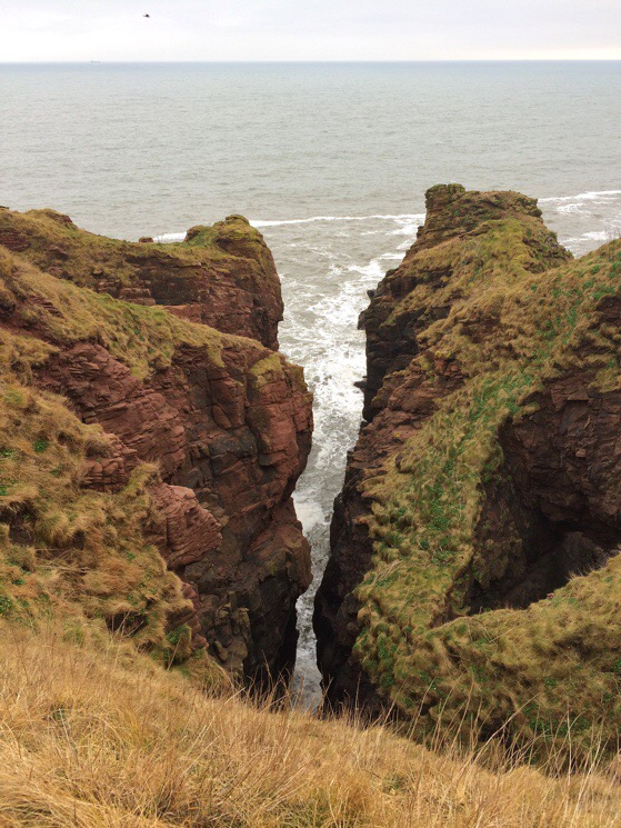 Chasing Daylight, Arbroath, Scotland, Cliff Walking