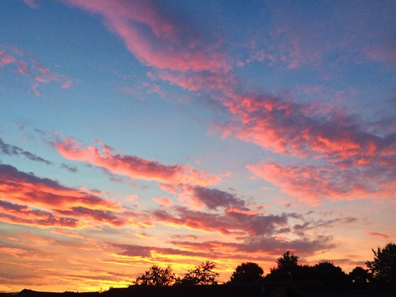 Sunset in Scotland, September, Chasing Daylight