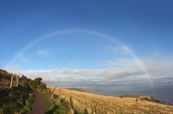Aberdeen, Stonehaven, Rainbow, Christmas, Scotland