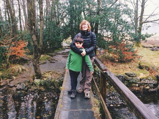 Mama in Grasmere, Scotland