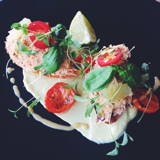 Crab Bruschetta from Rockpool in Cullen