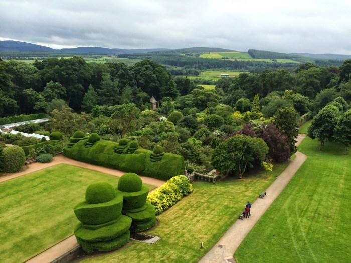 Crashes Castle Garden Scotland