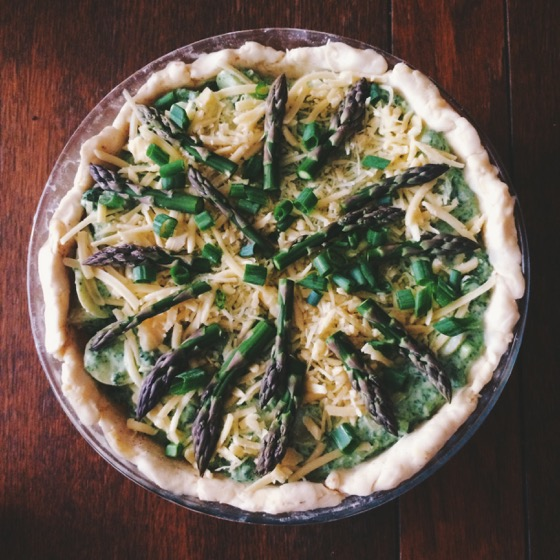 Asparagus Potato Ricotta Pie, Breakfast, Quiche, Vegetarian
