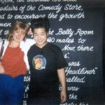 Alison with Bobby Lee outside The Comedy Store