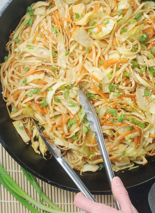 Chinese Green Cabbage Noodle Stir Fry Alison S Allspice