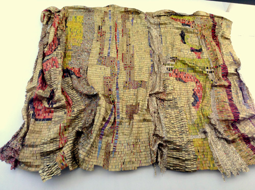 El Anatsui hanging at kansas city art museum
