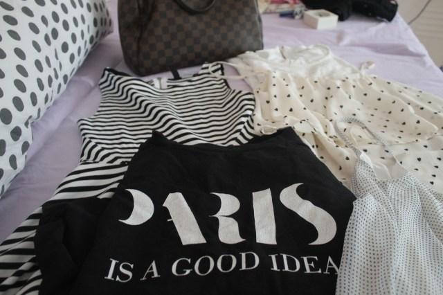 Packing for Paris - in letzter Zeit scheine ich ein ziemliches Schwarz-Weiß-Faible zu haben!