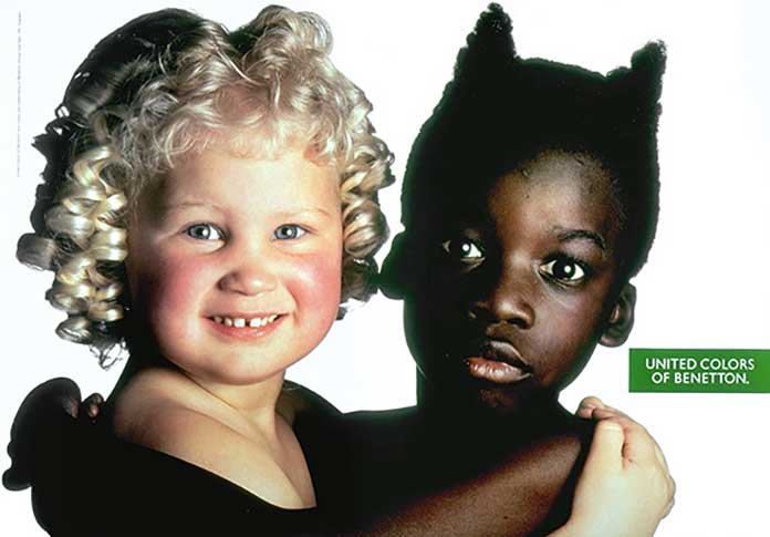 Image result for benetton commercial strategy with colored people