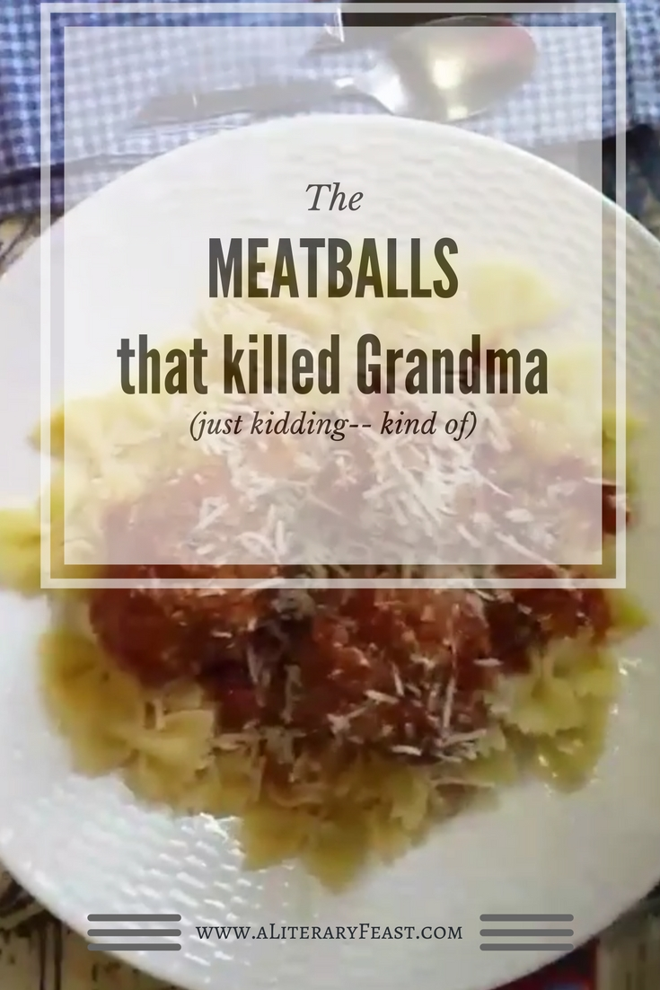 A Literary Feast -- Book review of Edgar and Lucy, meatballs, pasta, farfalle, book contest, literature, recipes, dinner