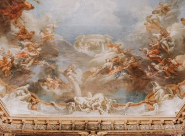Ceiling painted with angels