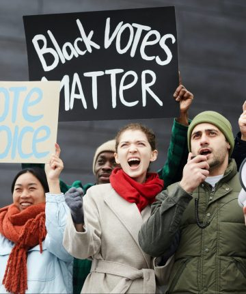 protest for voting rights