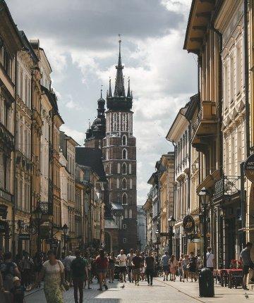 street in Krakow poland