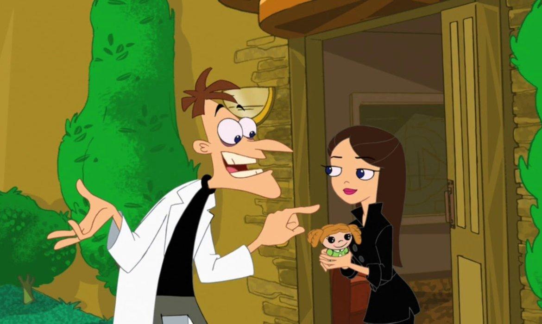 Dr Doofenshmirtz with daughter