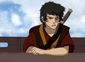 prince zuko leaning on rail
