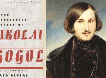 book cover and nikolai gogol portrait