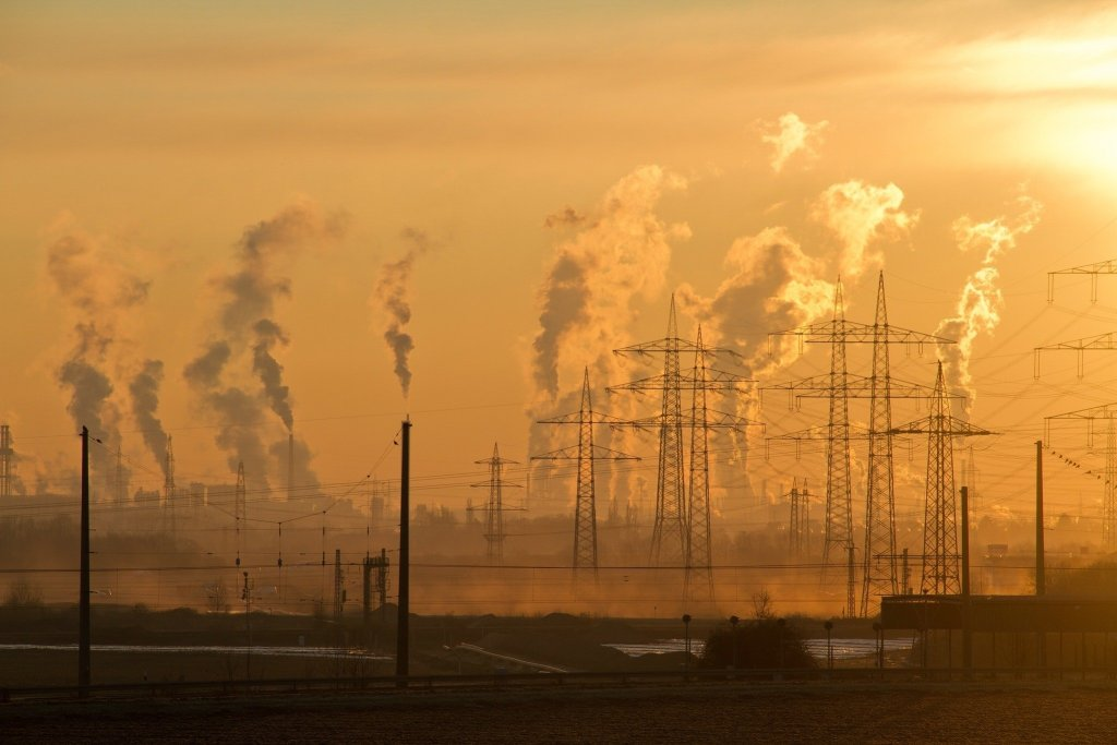 industrial air pollution in skyline