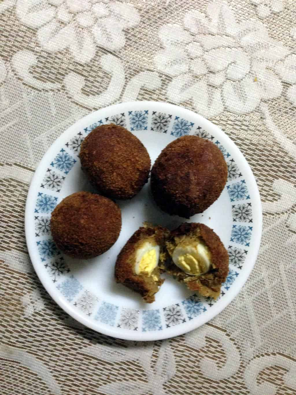 Scotch Eggs (Eggs wrapped in Meat mix)