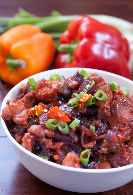 Indo Chinese Style Chilli chicken gravy